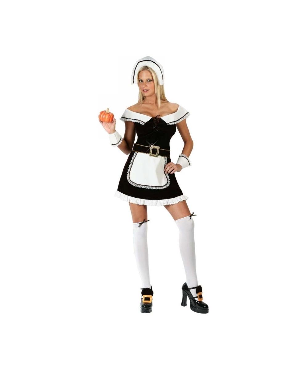 Adult Sexy Pilgrims Pleasure Halloween Costume - Women -1066