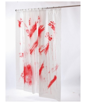 Bloody Shower Curtain - Halloween Decoration