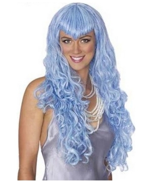 Blue Mermaid Adult Wig