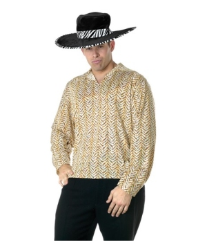 Gold Pimp Shirt Men Costume