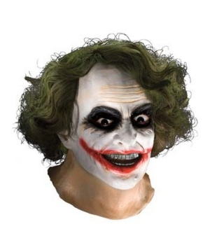 Joker Latex Mask With Hair