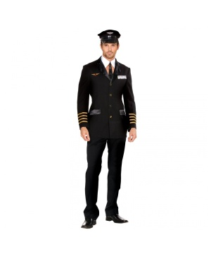 Pilot Hugh Jorgan Men Costume