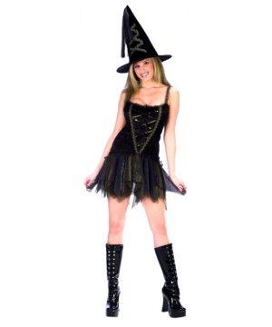 Sexy Flirty Witch Womens Costume
