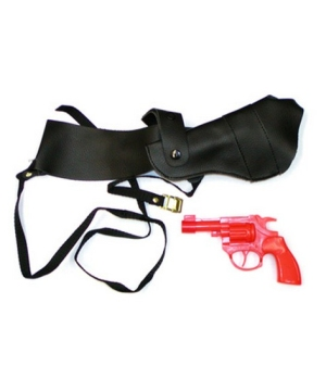 Shoulder Holster With Gun - Costume Accessory