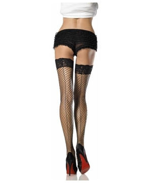 Thigh High Fishnets With Back Seam