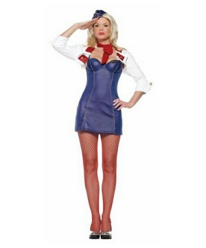 Womens Mile High Attendant Costume