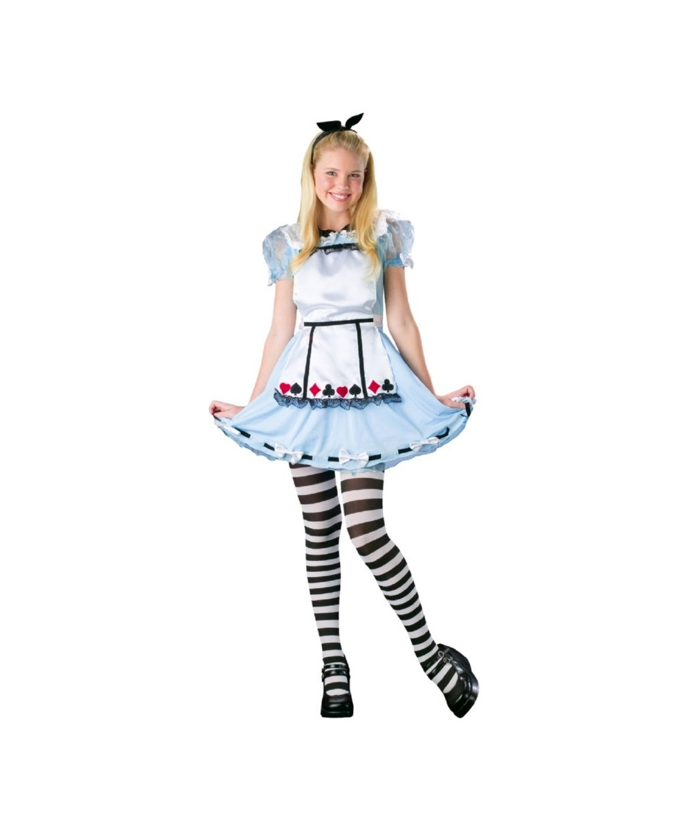 Alice In Wonderl Tween Costume - Girl Alice Costumes