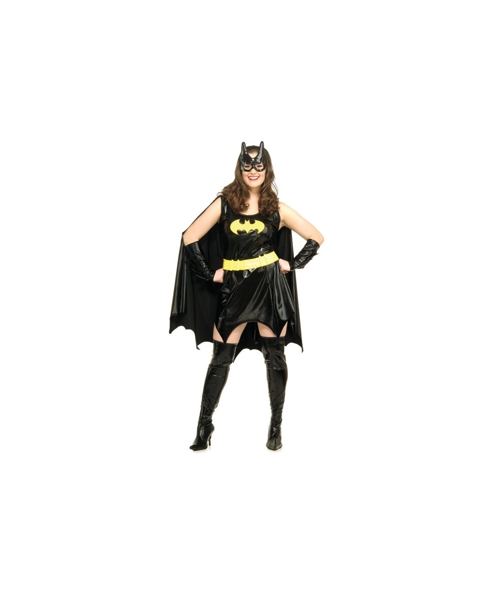 LICENSED BATGIRL BATMAN SUPER HERO WOMENS ADULT FANCY DRESS HALLOWEEN COSTUME