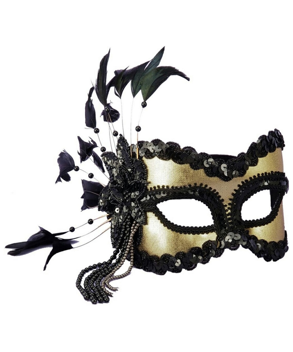 black and gold masquerade mask women costumes