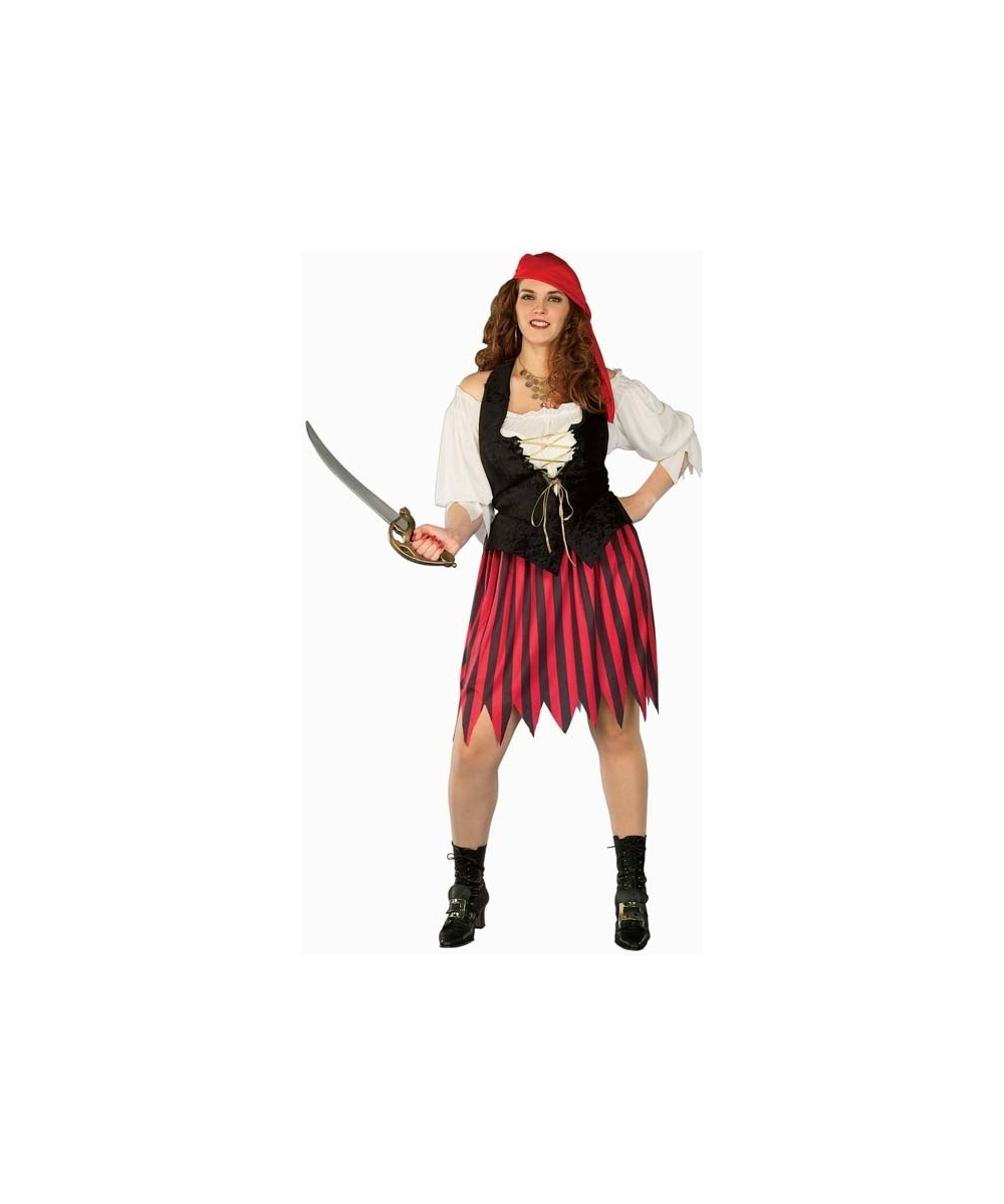 Buccaneer Bride Adult Plus Size Costume Women Pirate Costumes