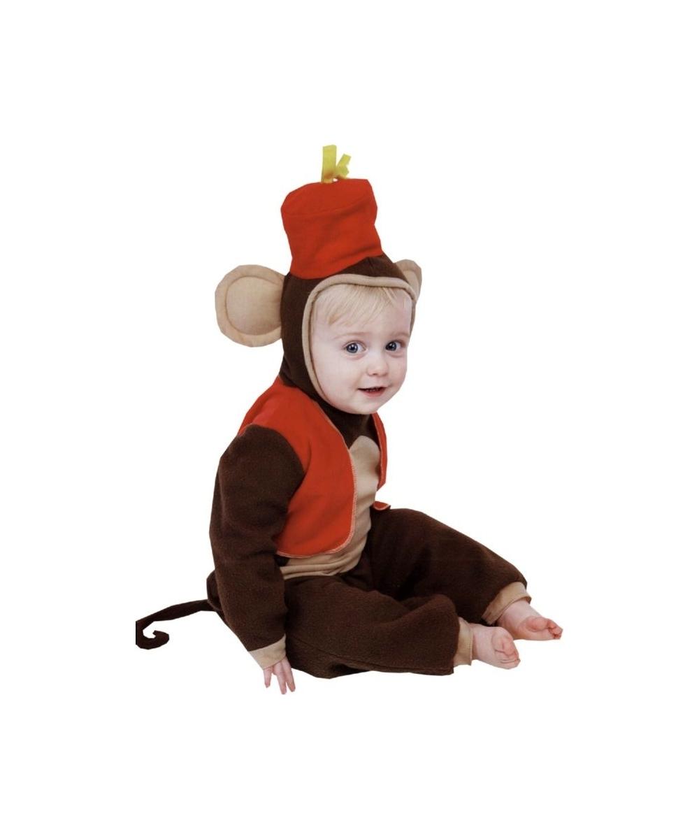 Fez Monkey Baby Costume  sc 1 st  Wonder Costumes & Monkey Fez Baby Animal Costume - Boys Costumes