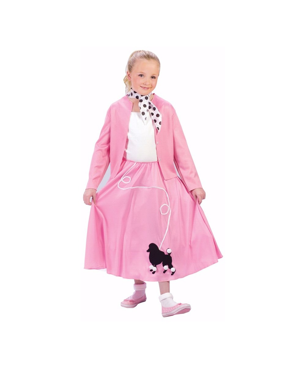 Grease Poodle Skirt Kids 50s Costume