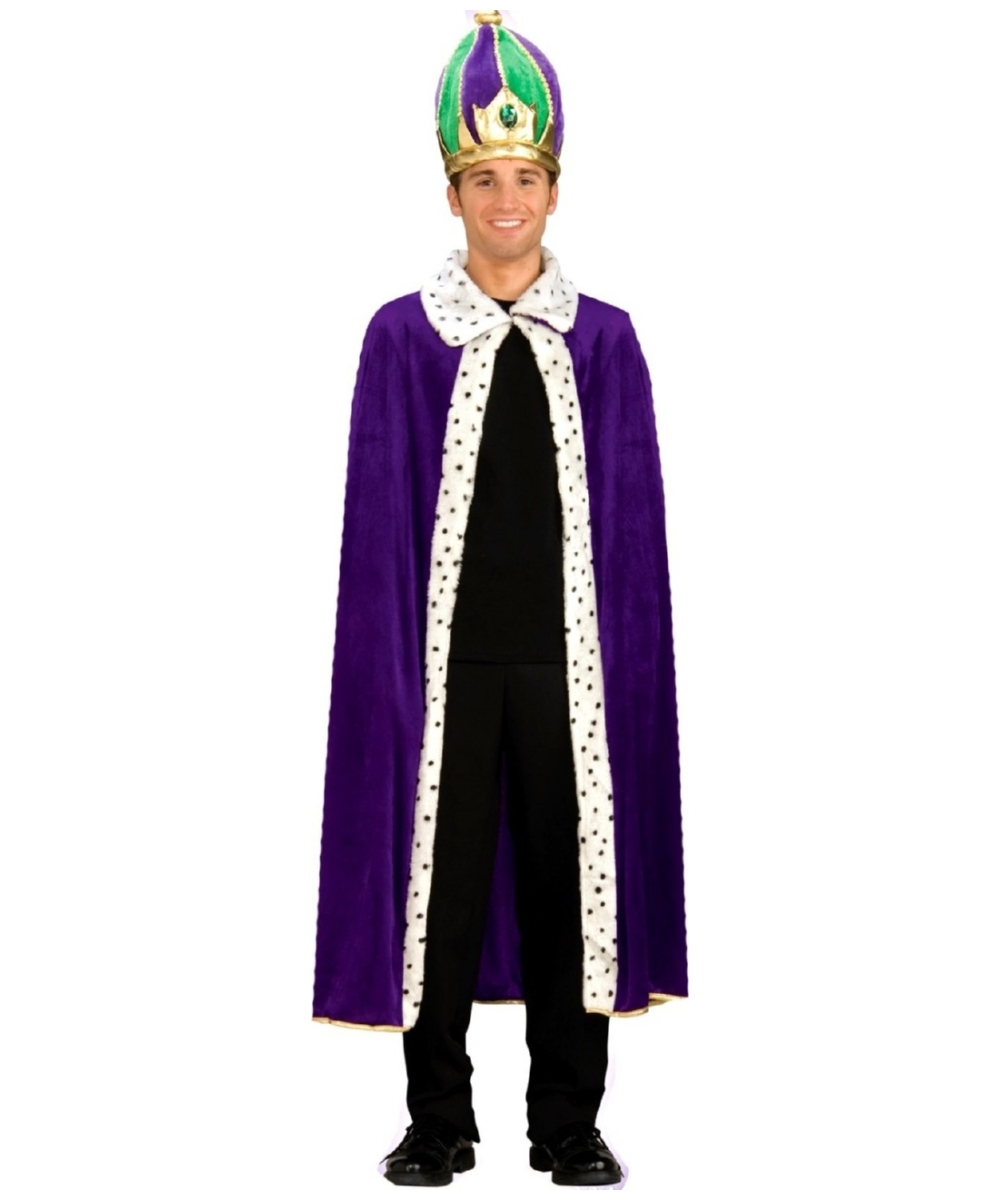 King Robe And Crown Men Costume  sc 1 st  Wonder Costumes & Adult King Robe and Crown Halloween Costume - Men Costumes