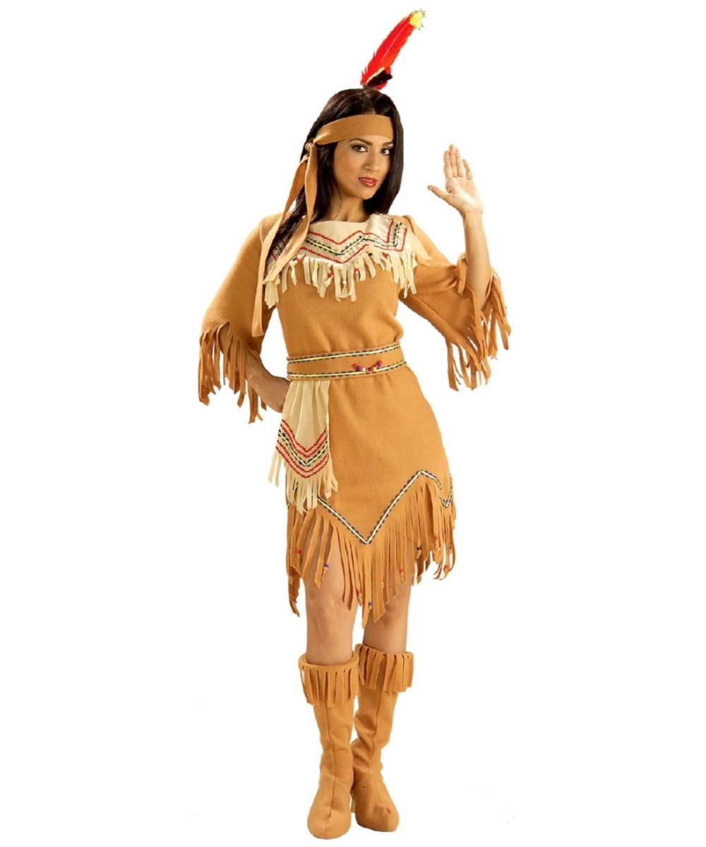 Native American Maiden Indian Costume - Women Indian Costumes-2816