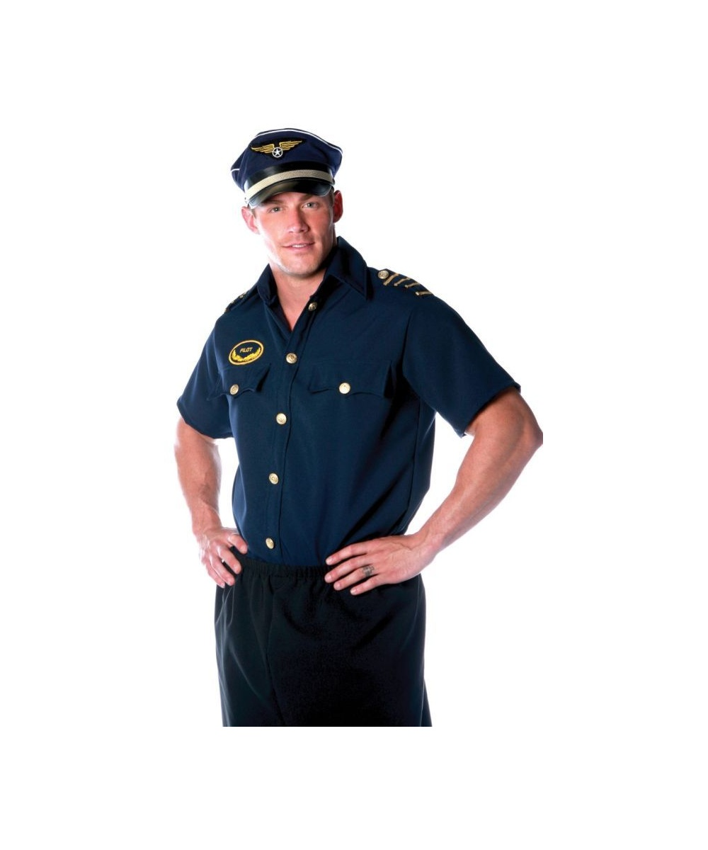 Pilot Shirt Men Costume