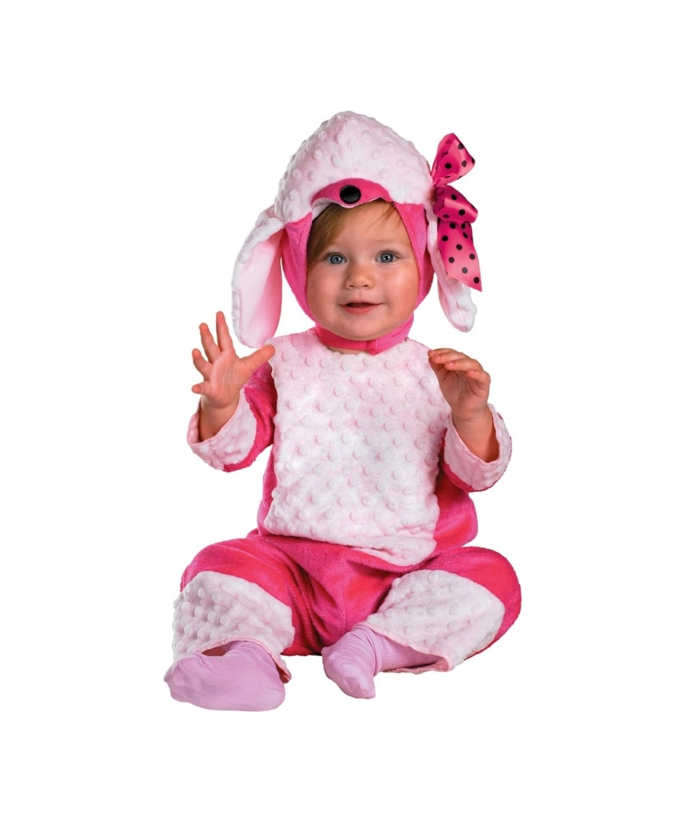 Pink Poodle Baby Costume Girls