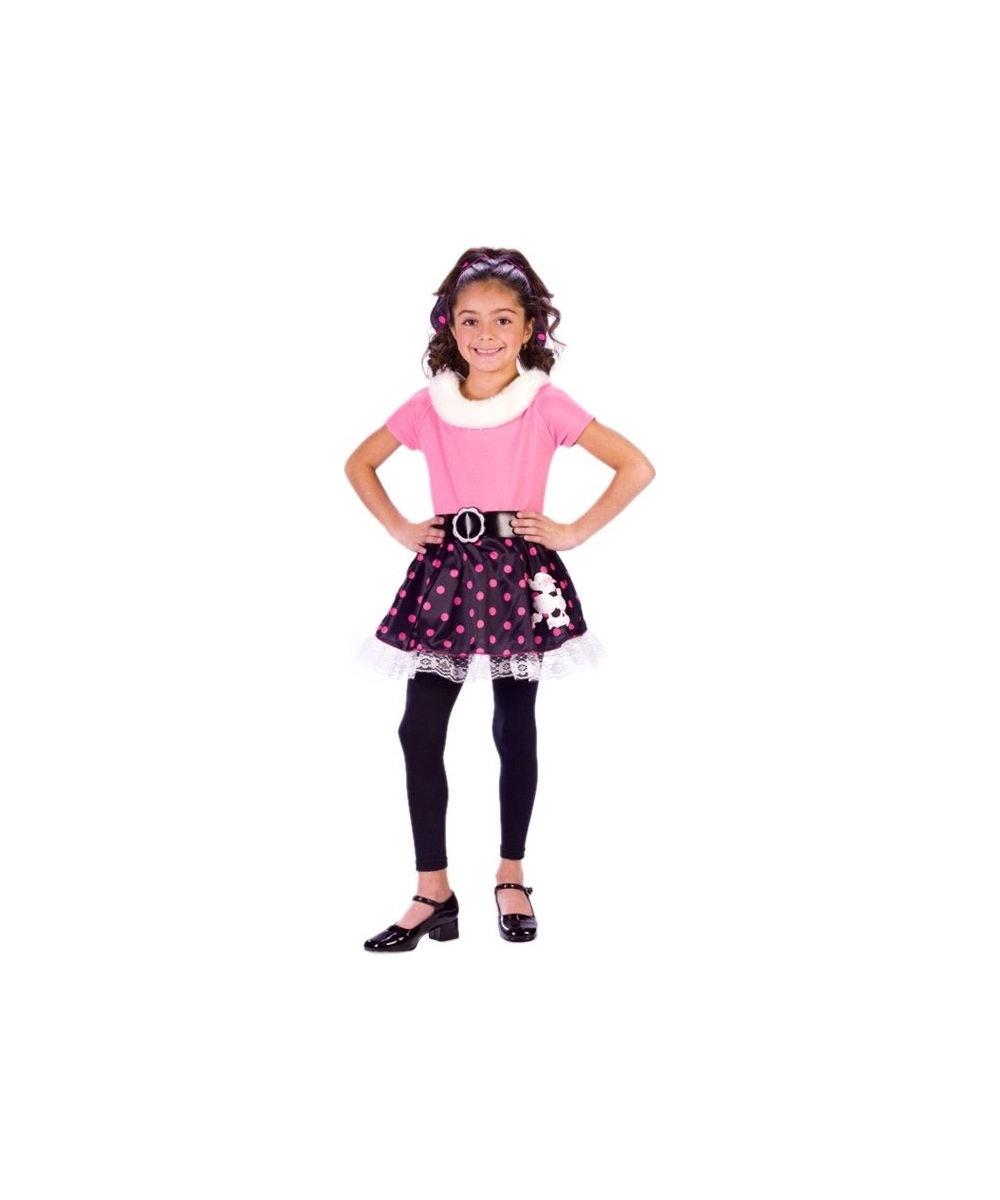 Poodle Skirt Kids 50s Costume