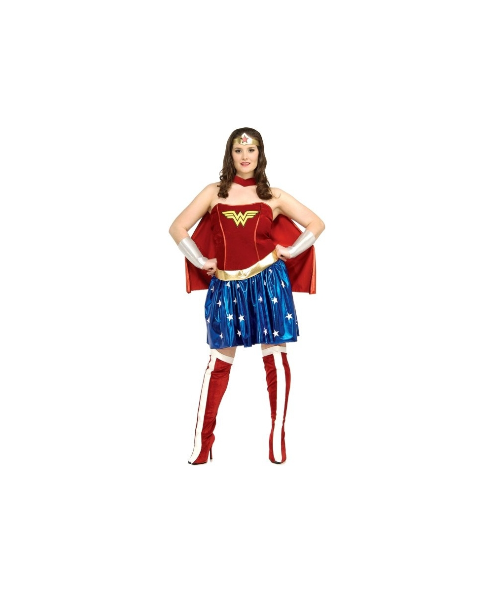 Adult Wonder Woman Plus Size Movie Superhero Costume