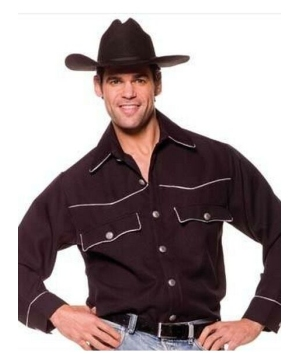 Cowboy Shirt Male Adult Costume