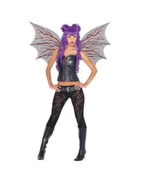 Demonette Wings With Veins Halloween Accessory