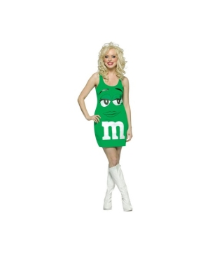 M and Ms Green Tank Dress Women Costume