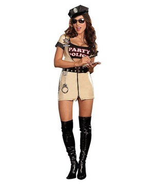 Party Police Costume - Adult Costume