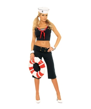 Sexy First Mate Women's Costume