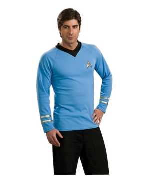Star Trek Blue Shirt Men Costume deluxe