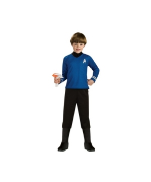 Star Trek Blue Shirt- deluxe Child Costume