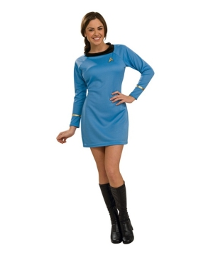 Star Trek Blue Dress Women Costume deluxe