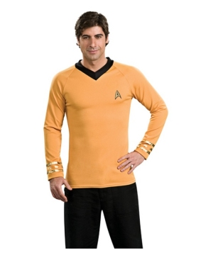Star Trek Gold Shirt Men Costume