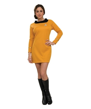 Star Trek Gold Women Dress Costume deluxe
