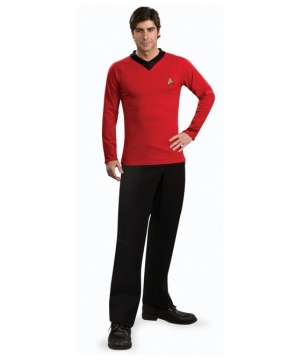 Deluxe Star Trek Red Shirt Men Costume