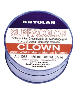 White Clown Cream make up