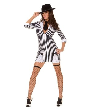 Womens Sexy Gangster Costume