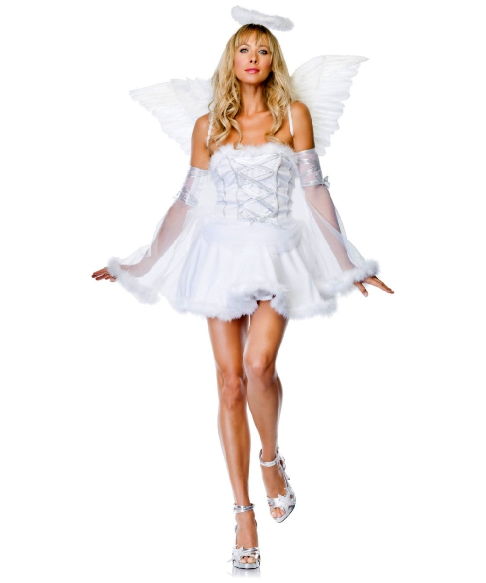 heavenly angel adult halloween costumes. Black Bedroom Furniture Sets. Home Design Ideas