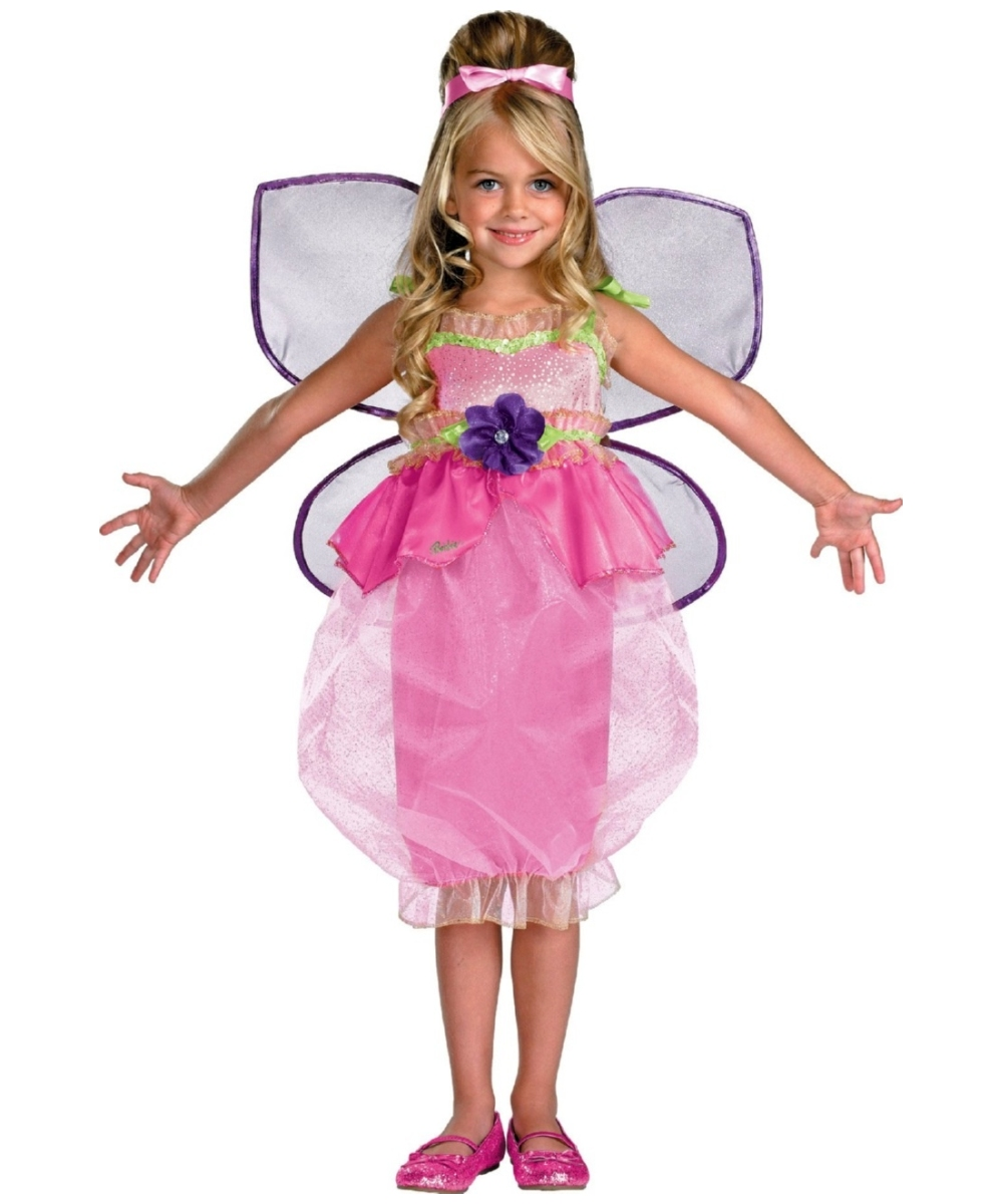 sc 1 st  Wonder Costumes & Barbie Thumbelina Kids Costume - Girl Barbie Costumes