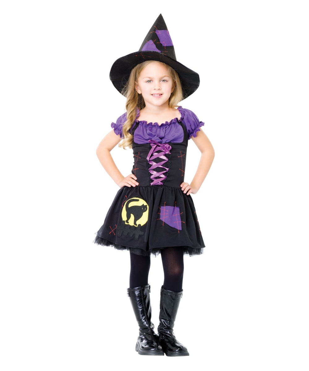 sc 1 st  Wonder Costumes & Witch Black Cat Kids Halloween Costume - Girls Costumes