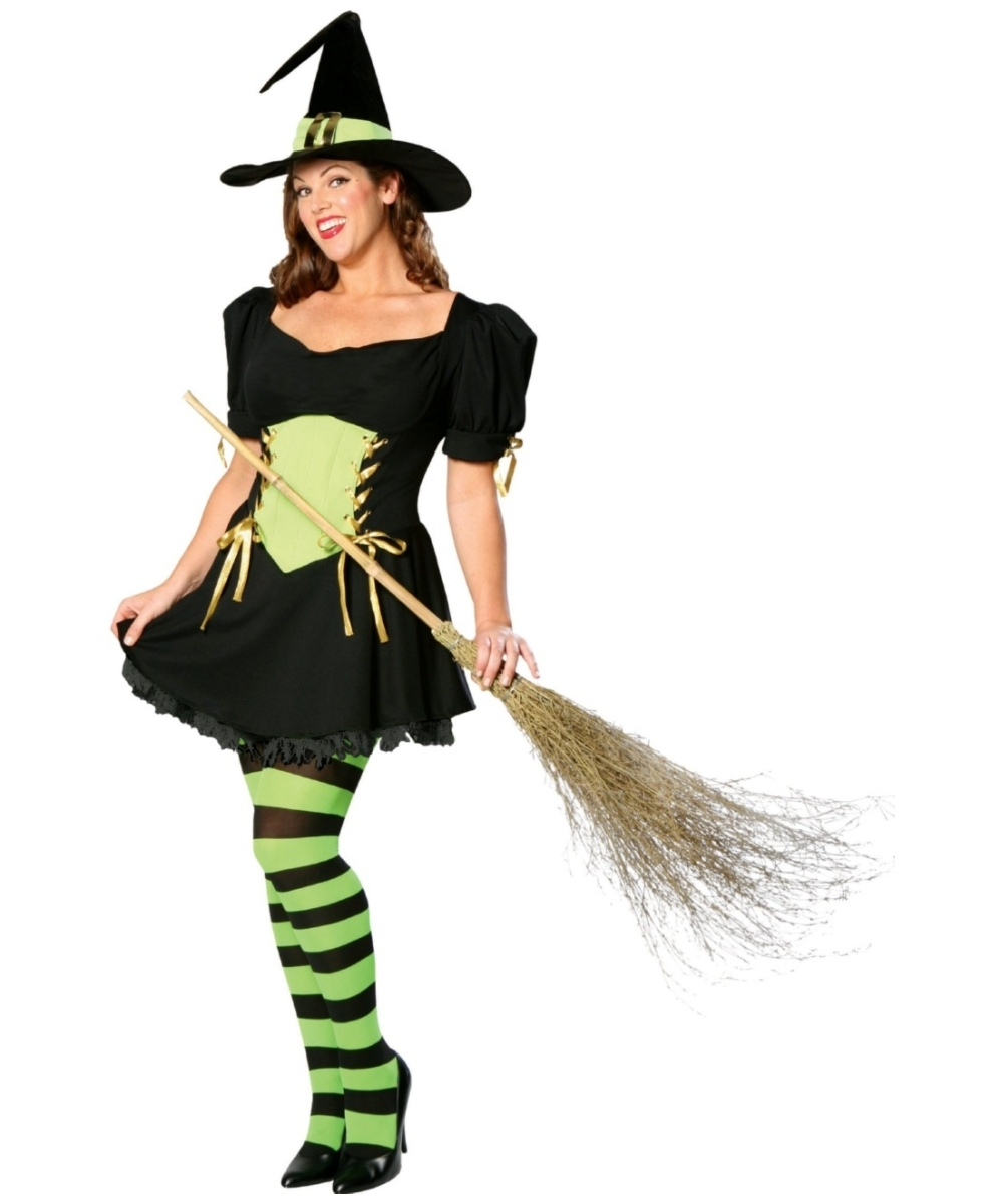 sc 1 st  Wonder Costumes & Adult The Emerald Witch plus size Halloween Costume - Women Costumes