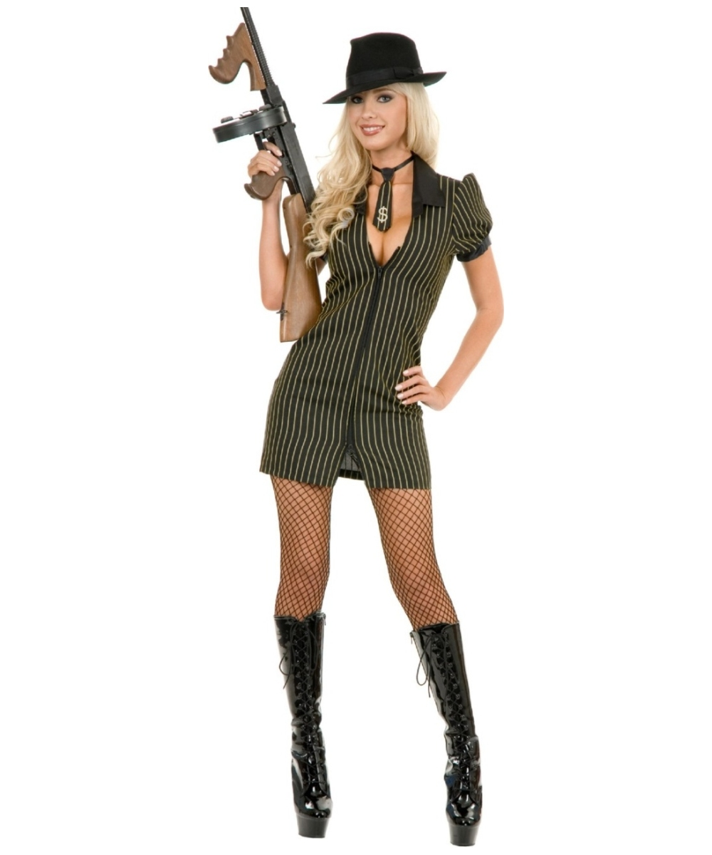 Gangster Moll Dress Women Costume  sc 1 st  Wonder Costumes : gangster woman costume  - Germanpascual.Com