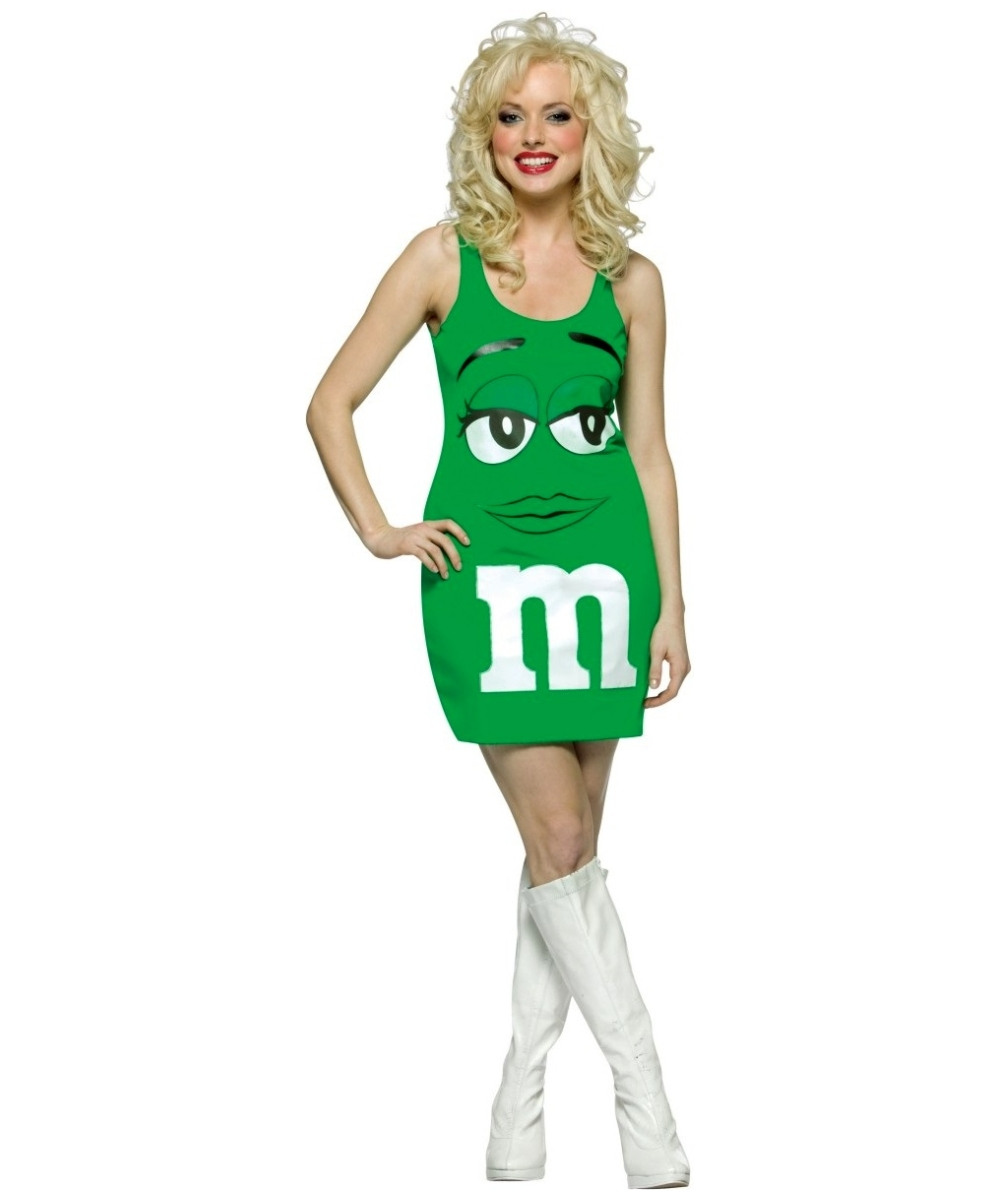 Green Tank Dress Women Costume