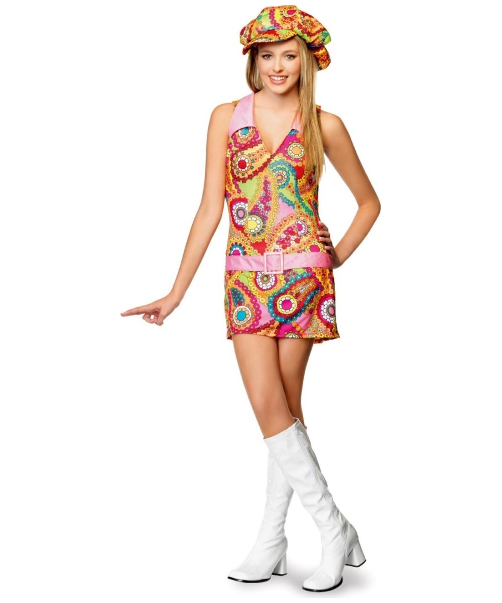 Hippie Groovy Teen Costume Girl Hippie Costumes