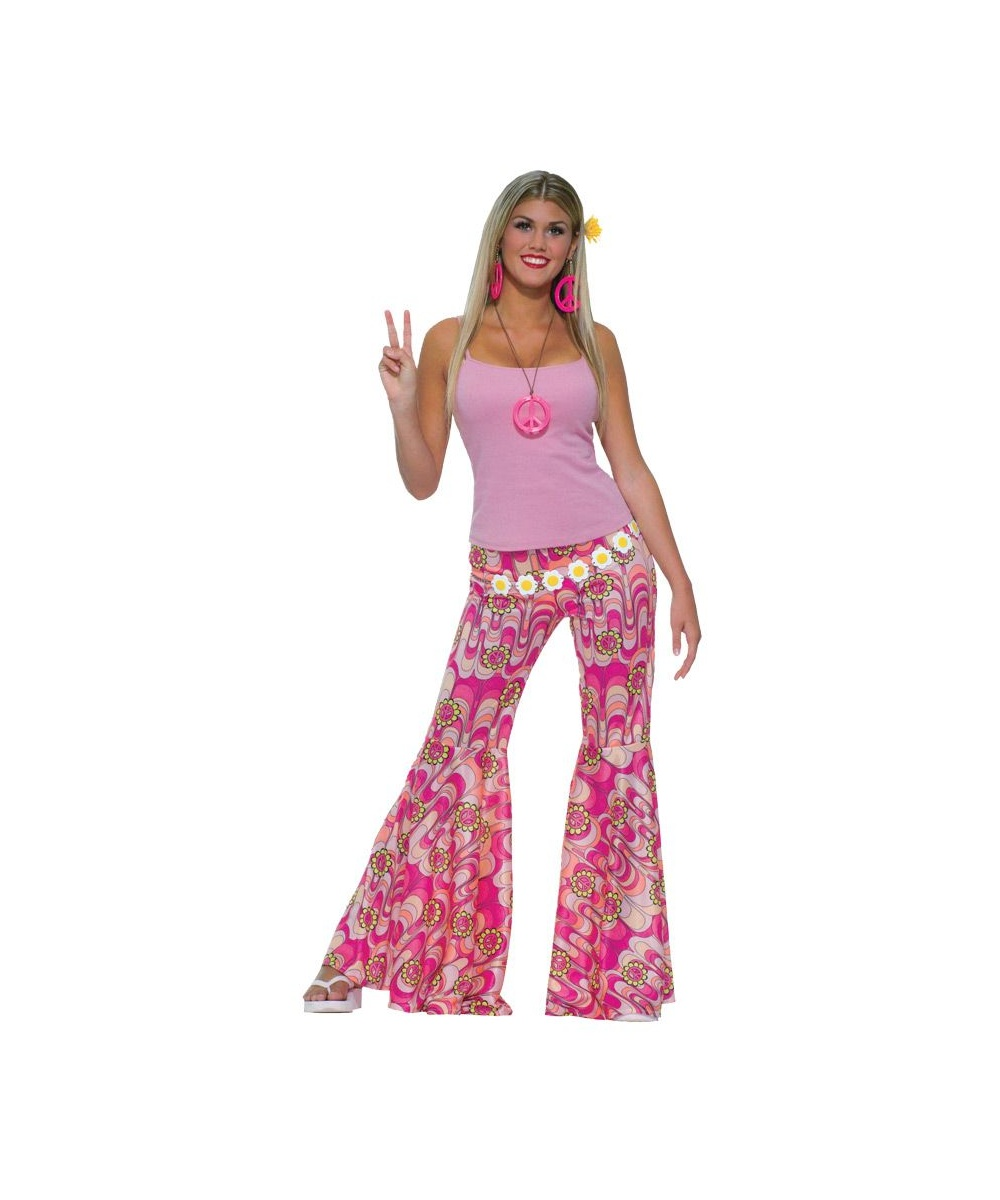 Flower Bell Bottom Pants Adult Costume  sc 1 st  Halloween Costumes & Flower Bell Bottom Pants - Adult Halloween Costumes