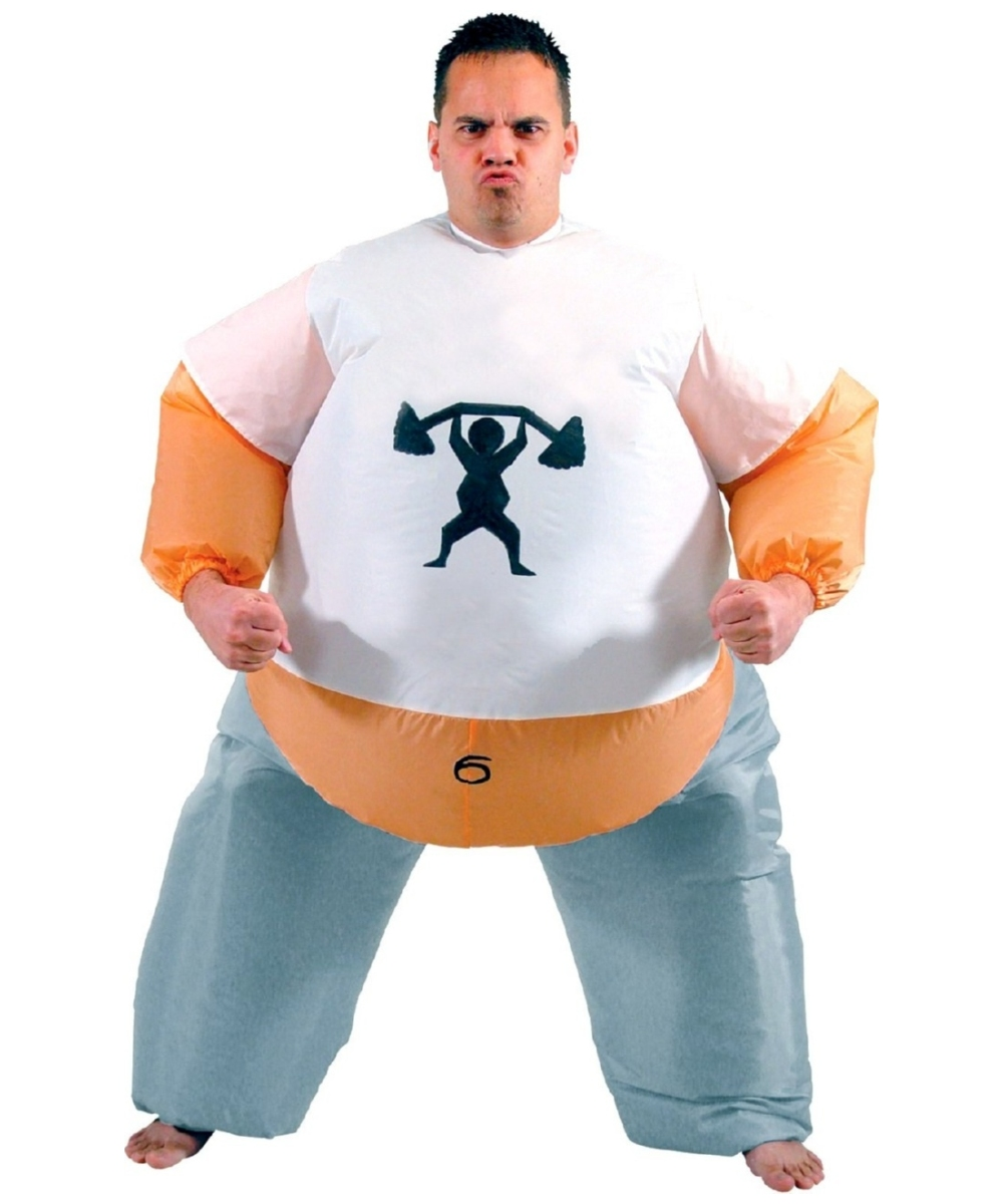 Adult Inflatable Personal Trainer Costume Men