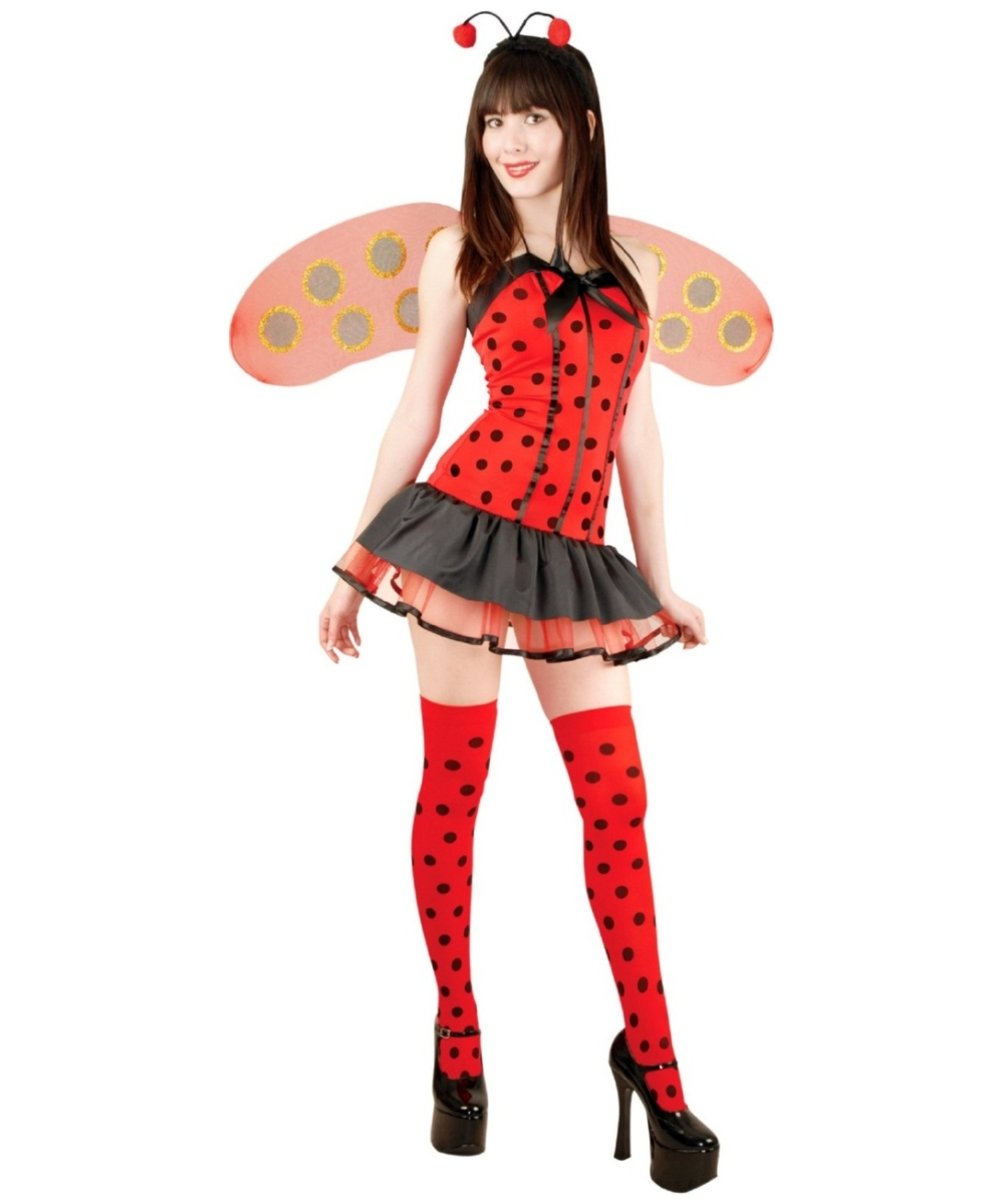Ladybug Hottie Women Costume  sc 1 st  Wonder Costumes : ladybug halloween costume adults  - Germanpascual.Com