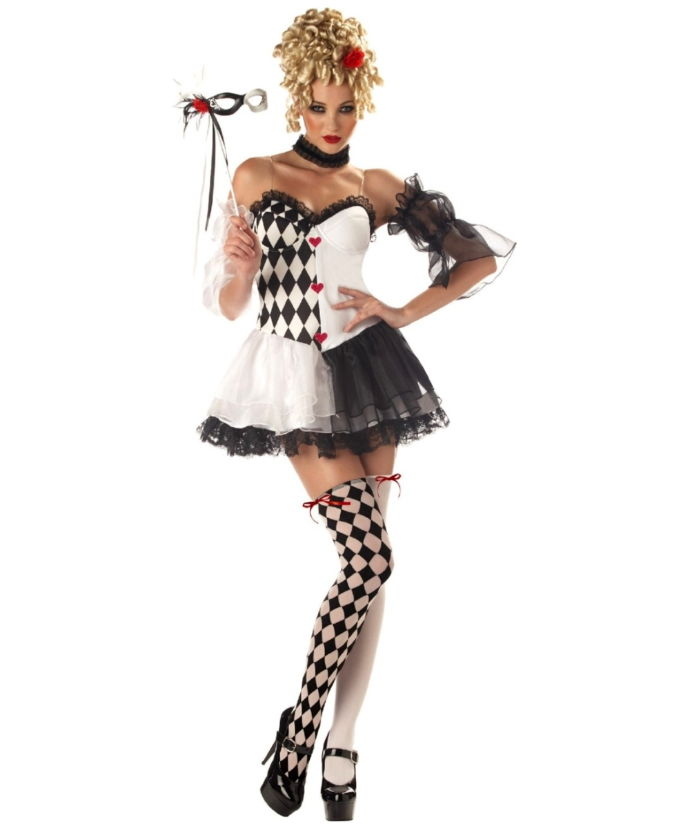 sc 1 st  Wonder Costumes & Le Belle Harlequin Jester Sexy Costume - Women Halloween Costumes