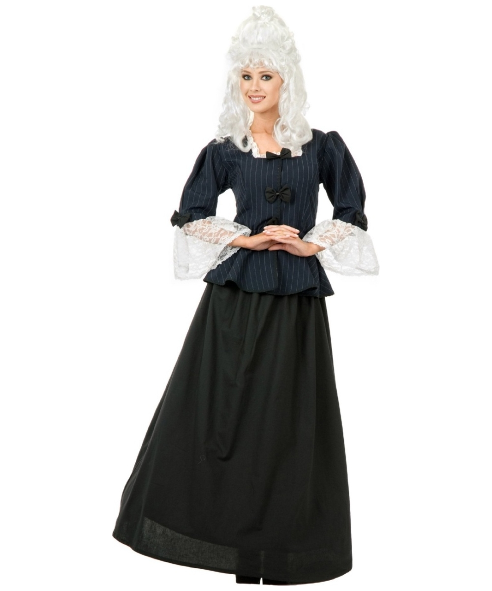 sc 1 st  Wonder Costumes & Colonial Martha Washington Adult Costume - Women Colonial Costumes