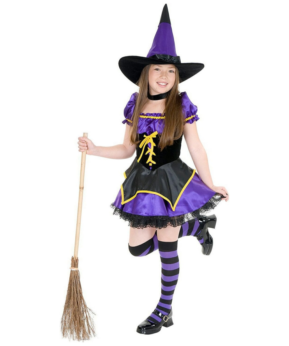midnight witch kids halloween costume girls costume - Witch Pictures For Kids