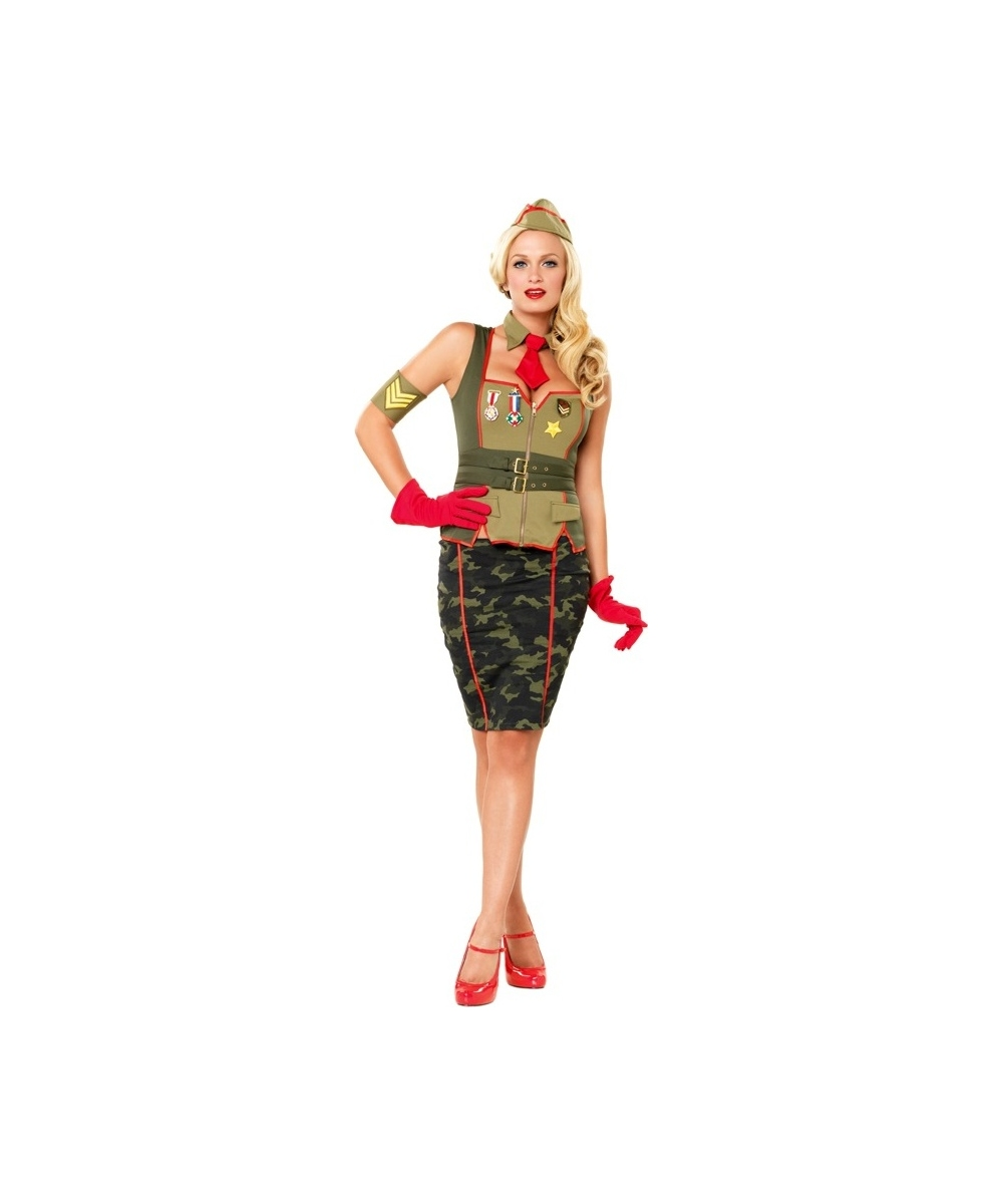 military pinup girl costume - adult halloween costumes