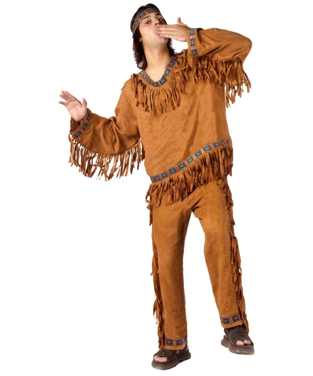 Native American Men Plus Size Costume  sc 1 st  Wonder Costumes & American Indian Man Costume - Adult Halloween Costumes